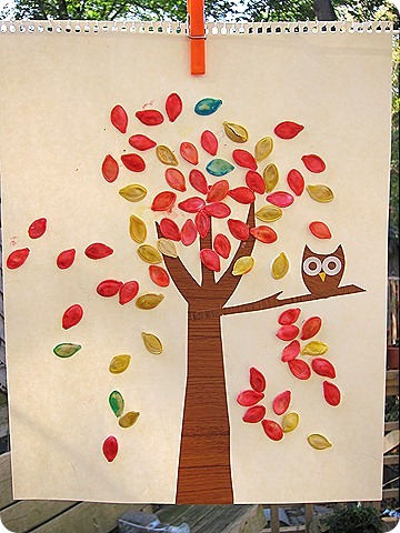 pumpkin seeds kids craft