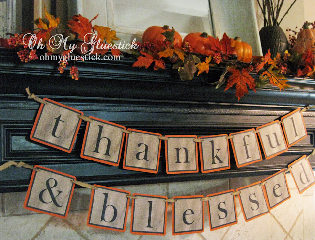 thankful blessed banner