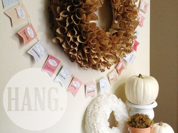 thanksgiving gratitude garland