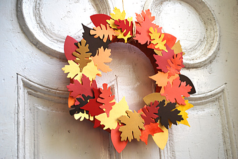 thanksgiving leaf fall wreath