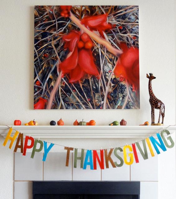 thanksgiving felt garland