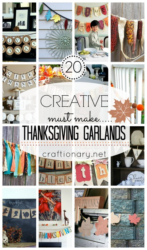 graphic relating to Printable Thanksgiving Banners called Craftionary