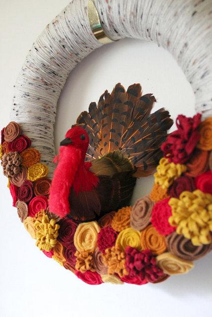 turkey wreath tutorial