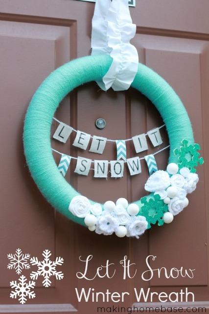 snow winter wreath
