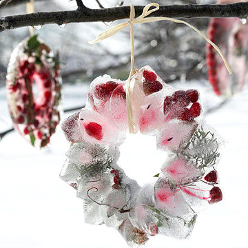 winter snow wreath