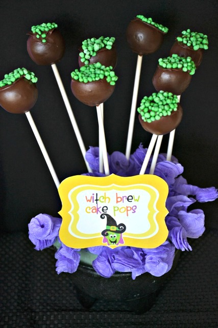 witch brew cake pops