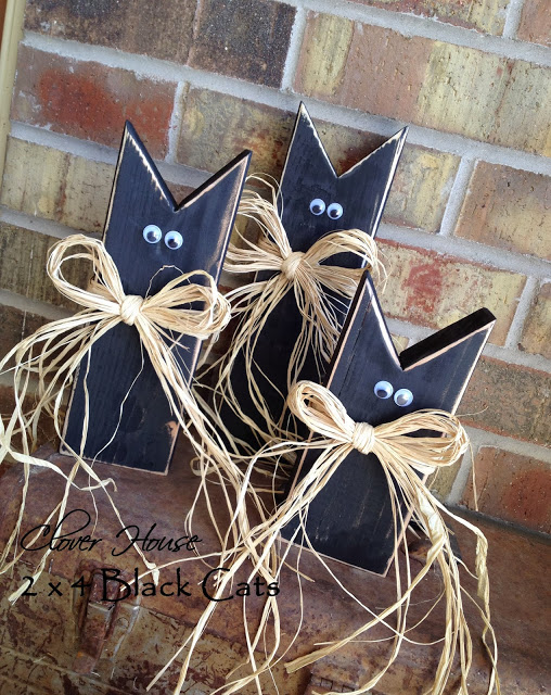 wooden black cats