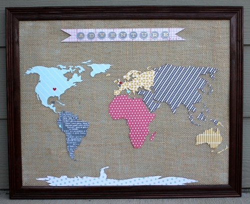 Map Wall Decor Diy: Craftionary