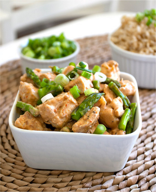 chicken with peanut coconut sauce