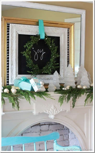 Holiday Joy Mantel