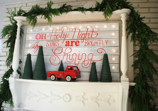 Lighted Holiday Mantel
