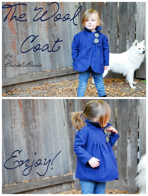 DIY wool kids coat