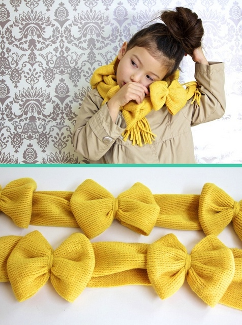 DIY bow scarf