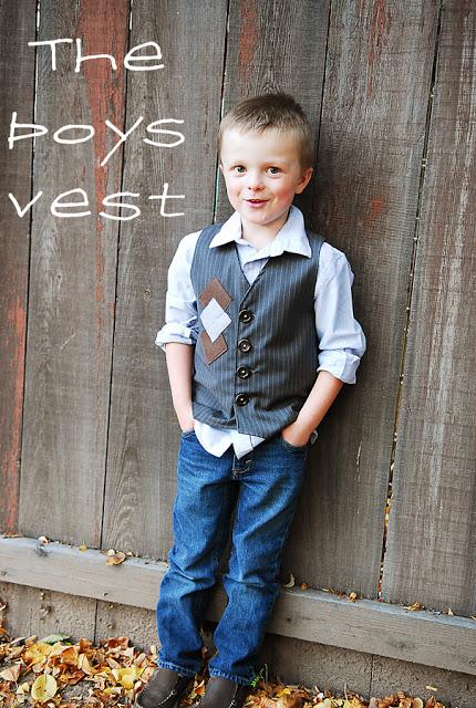 DIY boys vest