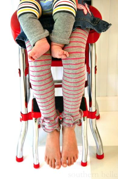 DIY leg warmers