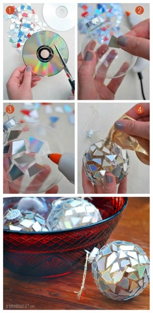 DIY cd ornaments