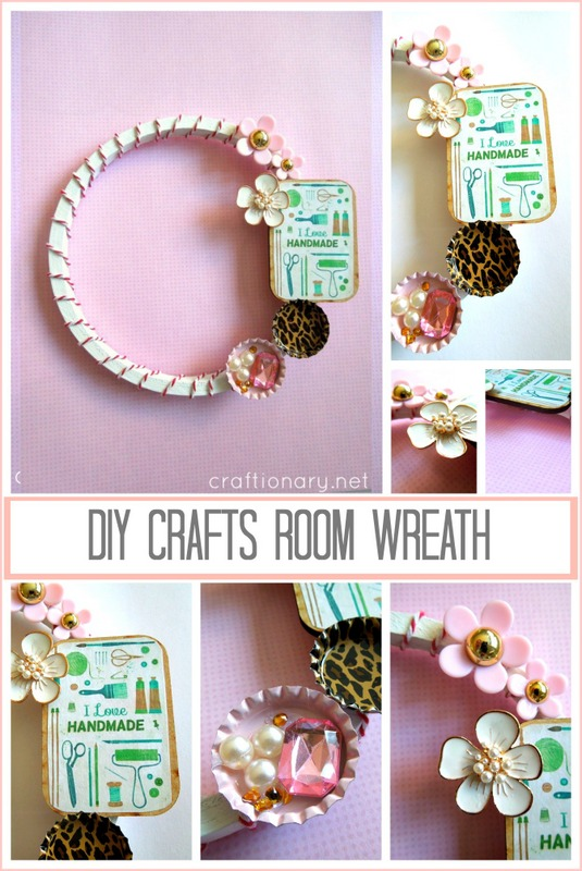 DIY embroidery hoop wreath crafts room tutorial