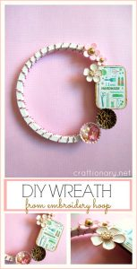 DIY Embroidery Hoop Wreath (Crafts room tutorial)