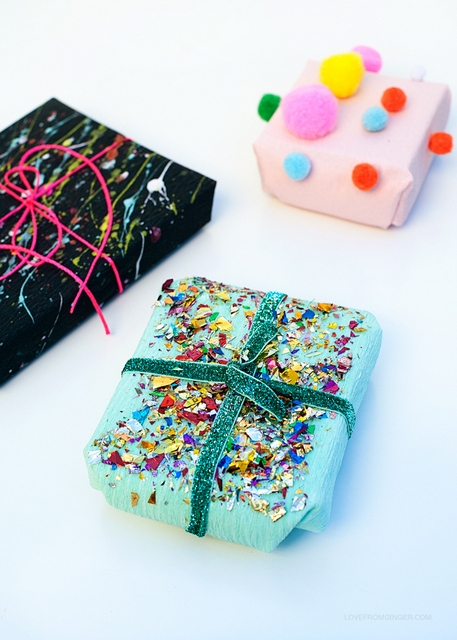 DIY gift wraps