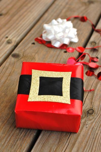 DIY santa gift wrap