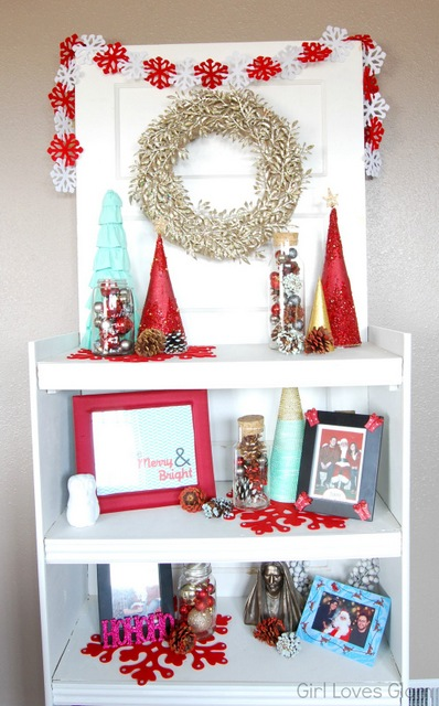 Faux Christmas Mantel
