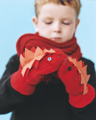 kids monster mittens