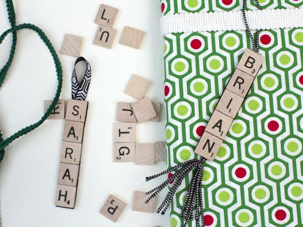 christmas scrabble name tag