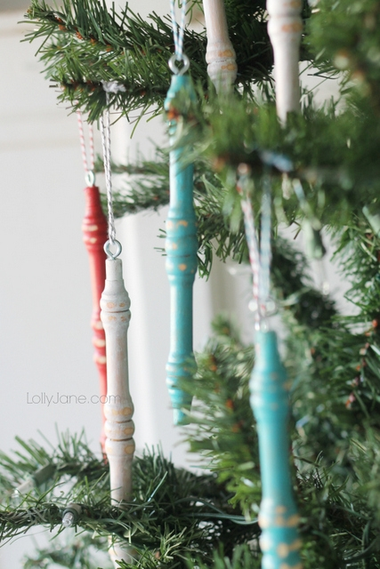diy wooden spindle ornamnents