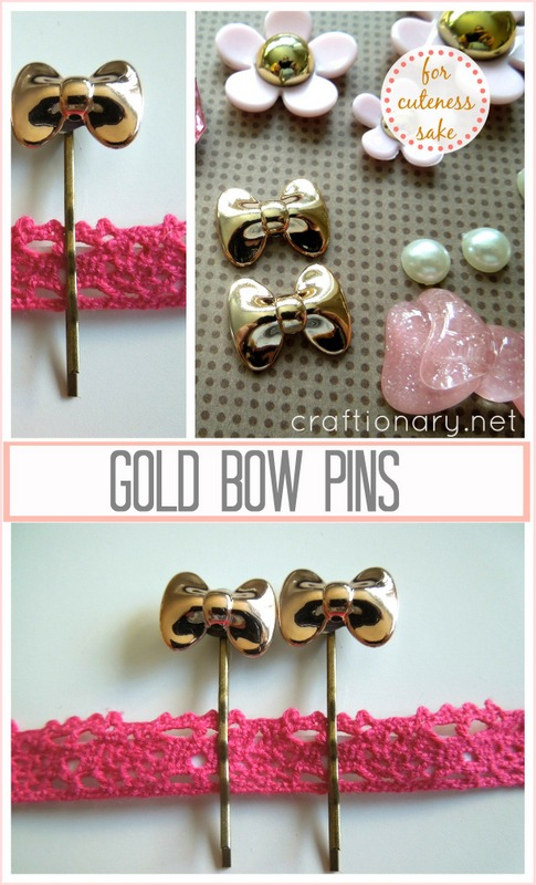 gold bow pins
