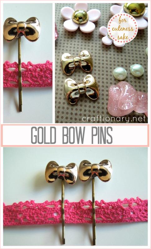 gold bow pins