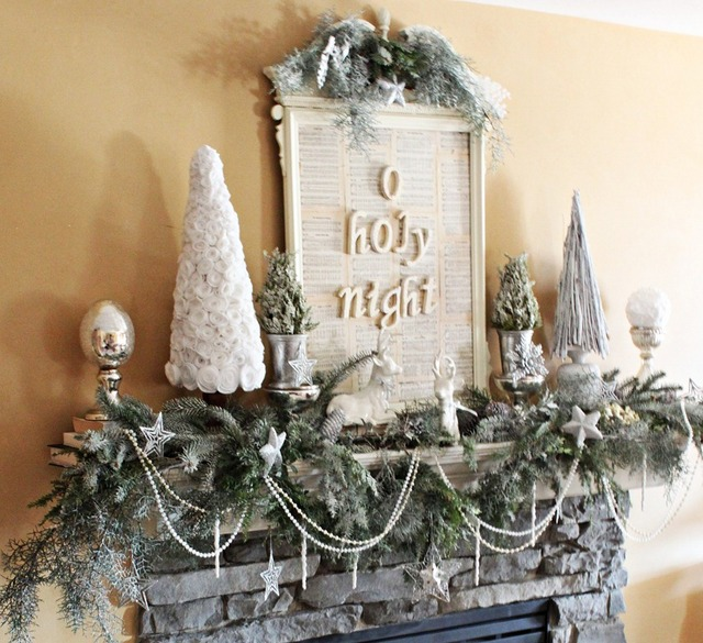 Holy Christmas mantel