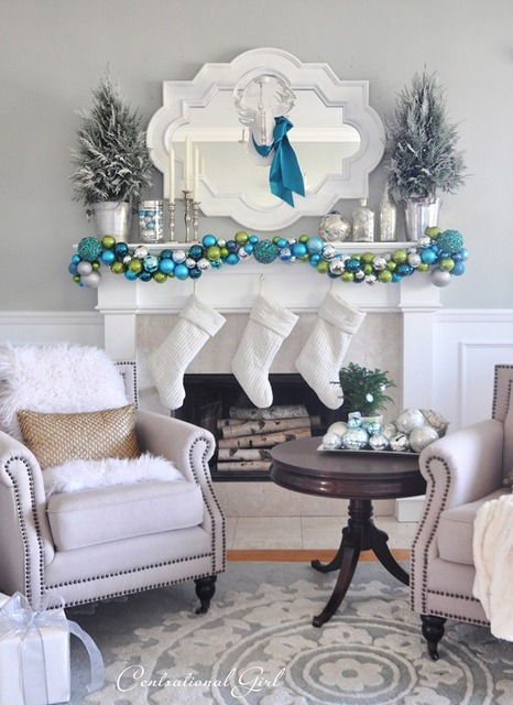 merry and bright mantel