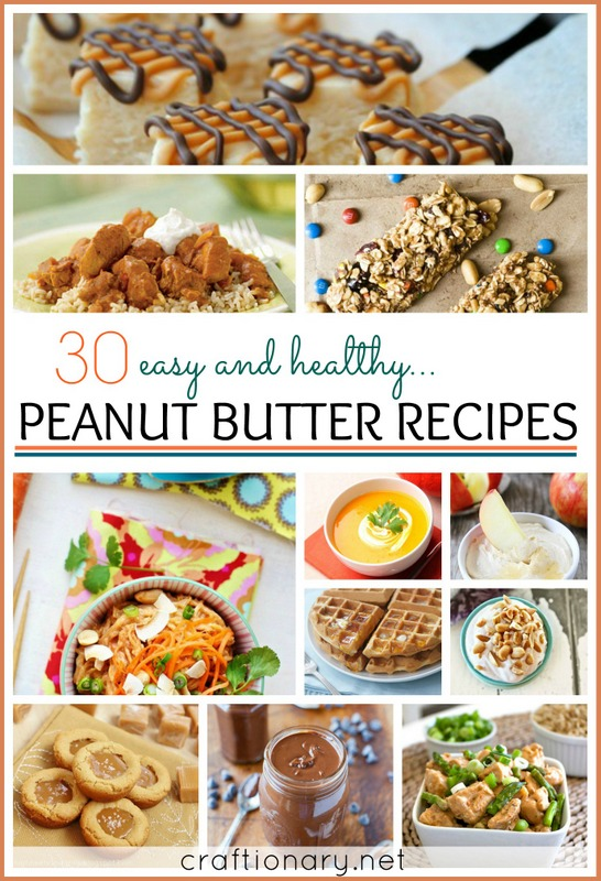 peanut butter recipes easy and healthy