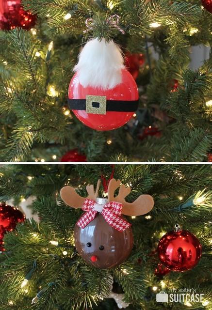 Santa Rudolph ornaments