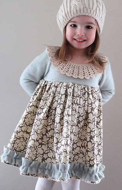 sewing DIY girls dress