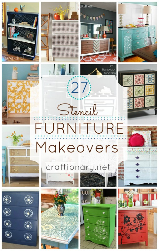 stencil furniture makeovers