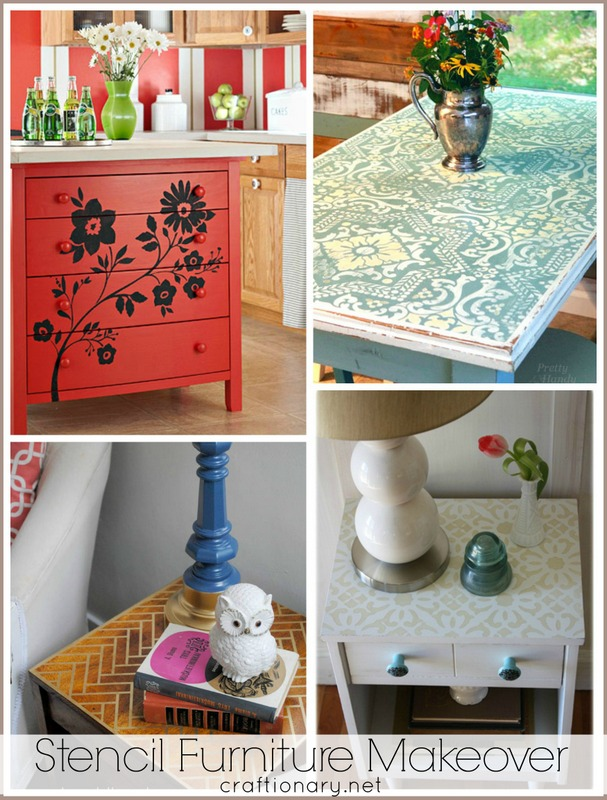 diy furniture makeovers. DIY Stencil Furniture Makeovers Diy