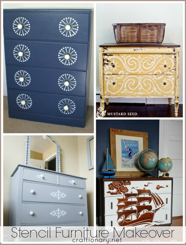 stencil furniture makeovers tutorials