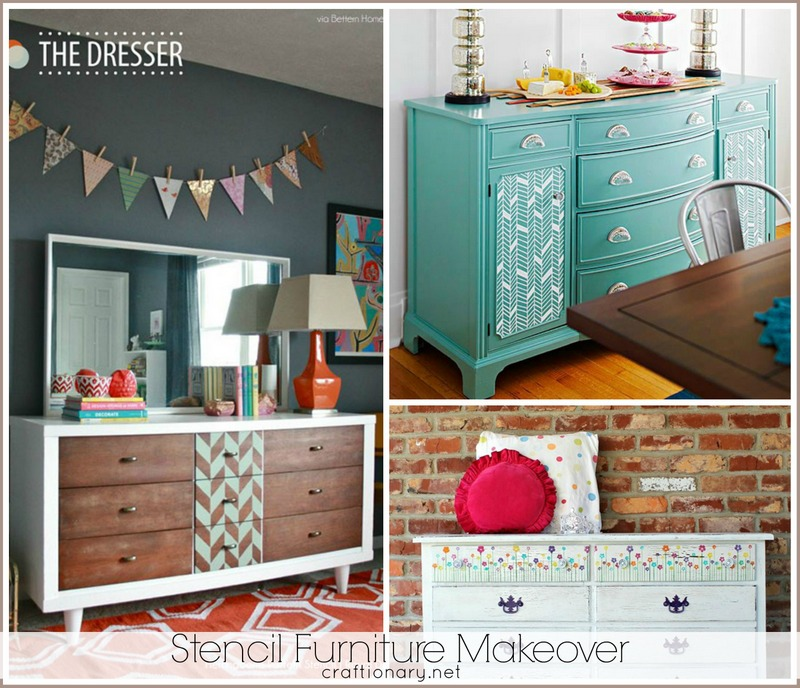 Great Stencil Furniture Makeovers
