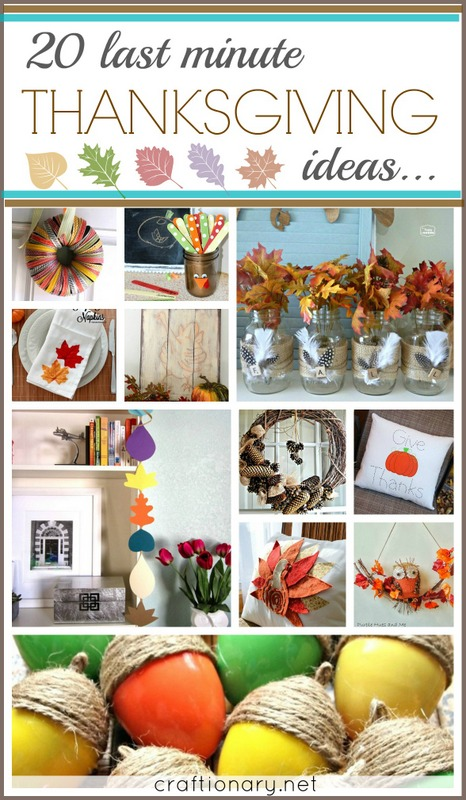 thanksgiving last minute ideas