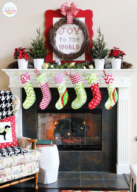 Traditional Christmas Mantel