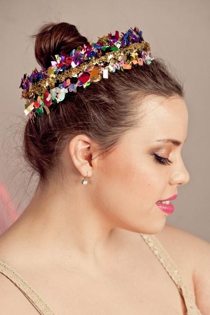 DIY confetti crowns DIY new years eve