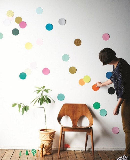 DIY new years eve confetti wall