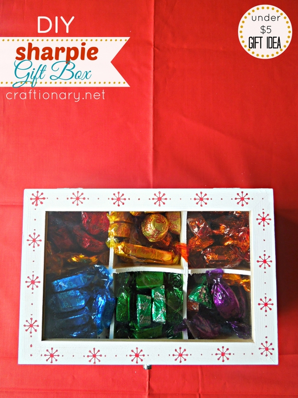 DIY gift box chocolates sharpie idea