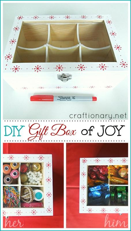 DIY handmade gift box gift idea