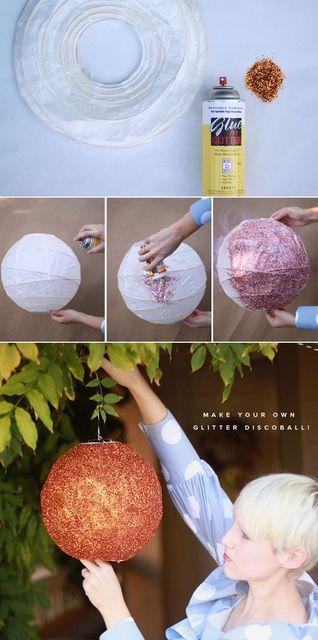 DIY glitter disco ball