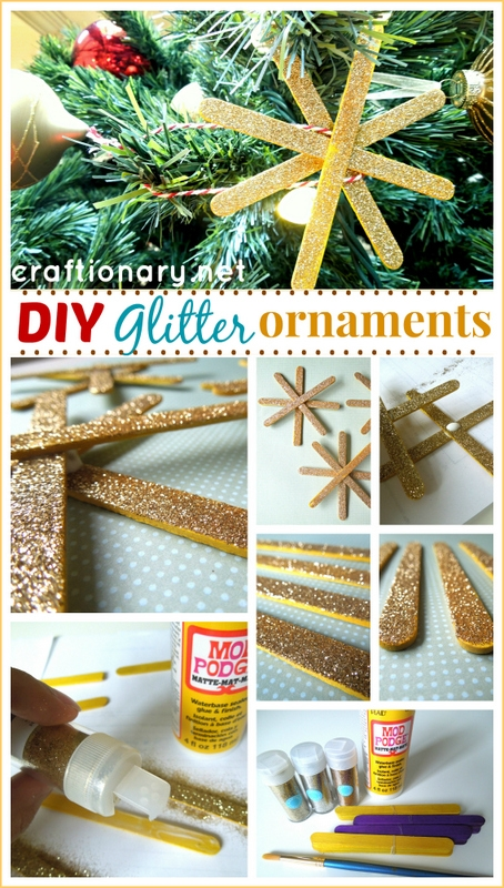 DIY glitter snowflakes tutorial