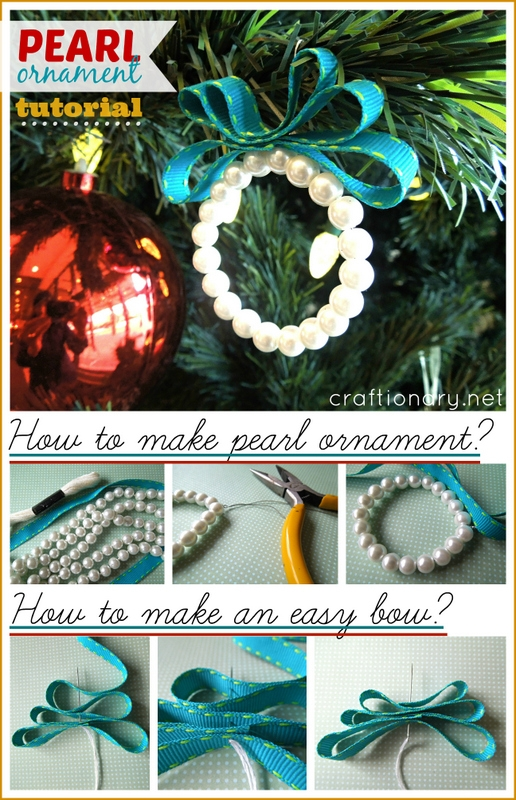 how to make DIY pearl ornaments