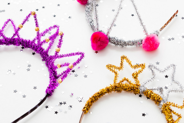 DIY pipe cleaner crowns