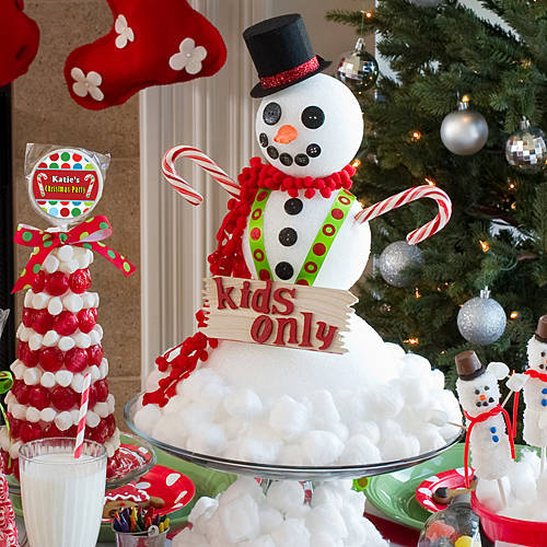 DIY snowman centerpiece